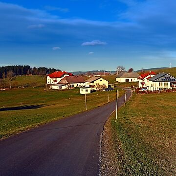 Country road, scenery and blues sky II | landscape photography by patrickjobst