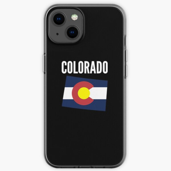 Colorado Map With Text iPhone Soft Case