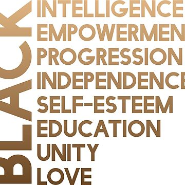 Black Empowerment, Unity and Love, African American by UrbanApparel