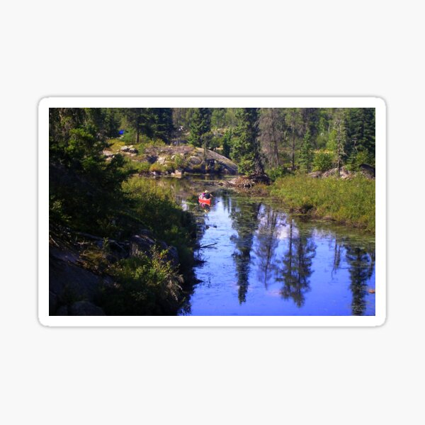 rushing river view  Sticker