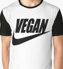 vegan black and white Graphic T-Shirt