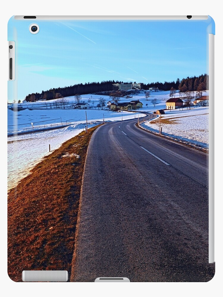 Country road through winter wonderland III   landscape photography by Patrick Jobst
