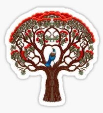 Pohutukawa and Tui Sticker