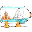 Sailboat in a Bottle by lelulagames