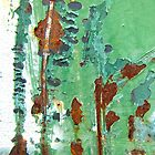 Green and Brown Rust Abstract by Kathie Nichols