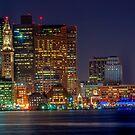 Boston with Christmas lights  by LudaNayvelt