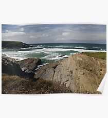 Rugged coastline. Poster