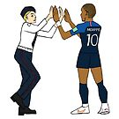 MBappe and Pussy Riot high five - World Cup 2018 by bad-squirrel