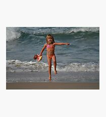 Childs Play at the Beach Photographic Print
