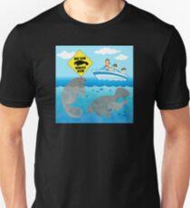 Boat Slow Manatees Below Unisex T-Shirt