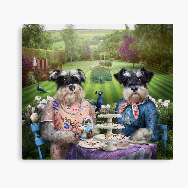 Dog Portrait - Doris and Patsy Canvas Print