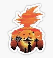 Kame House Sunset-Goku Sticker