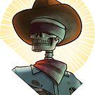 Bone Ranger Saint Bust by Kyle Armstrong