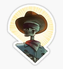 Bone Ranger Saint Bust Sticker