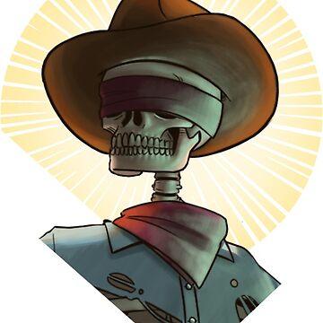 Bone Ranger Saint Bust by kyle-sans-kyle