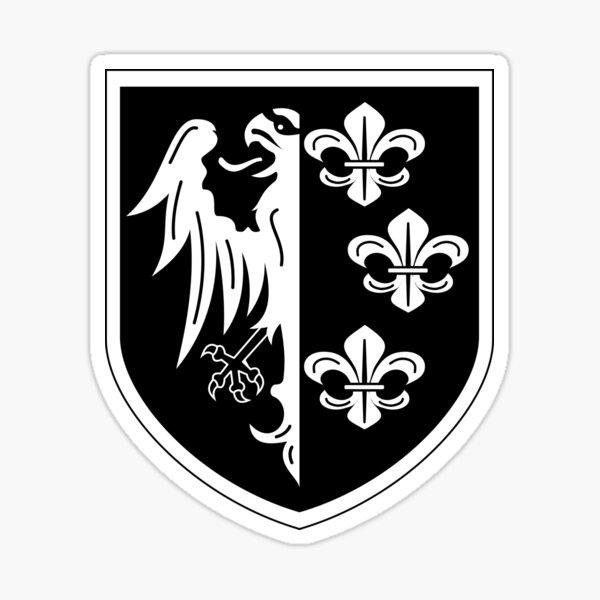 División de Carlomagno Pegatina
