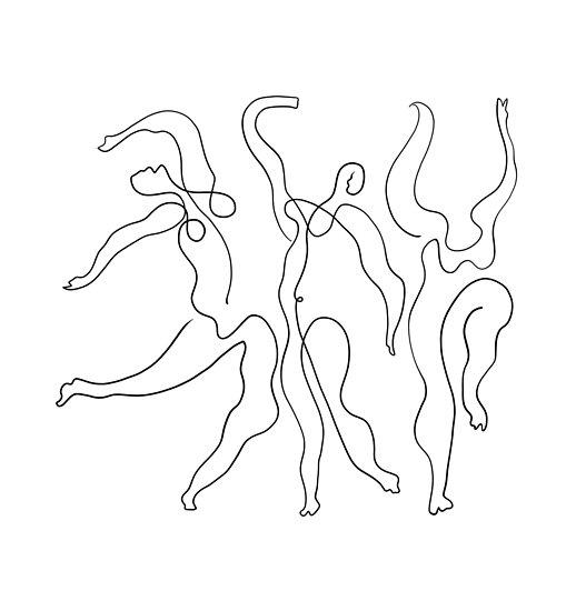Picasso Line Art - Tänzer von ShaMiLaB