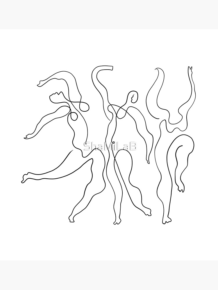 Picasso Line Art - Dancers by ShaMiLaB