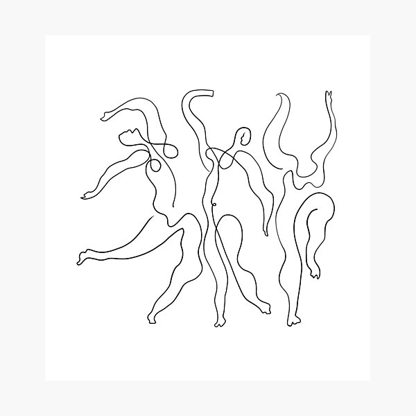 Picasso Line Art - Dancers Photographic Print