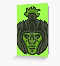 Zombie Orc Warrior Greeting Card