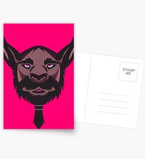 Beardilicious Vector Art Postcards