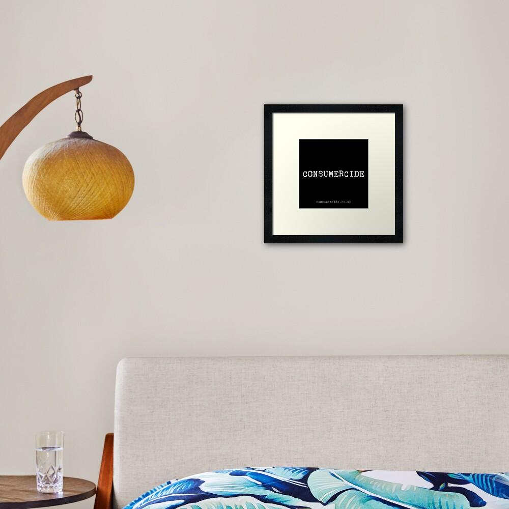 Consumercide Framed Art Print