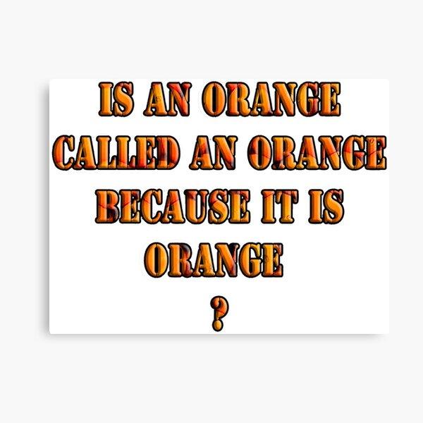 Oranges random question Canvas Print