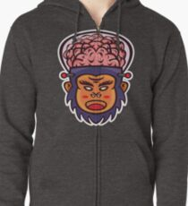 Brainiax Vector Art Zipped Hoodie