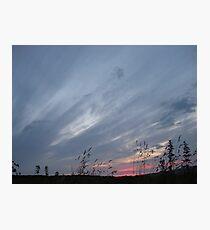 Brush Srokes in The Sky...... Photographic Print