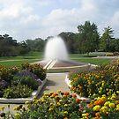 A Beautiful fountain 2 by Linda Miller Gesualdo