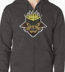 Corn Head Vector Art. Zipped Hoodie