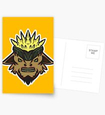 Corn Head Vector Art. Postcards