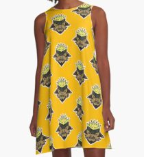 Corn Head Vector Art. A-Line Dress