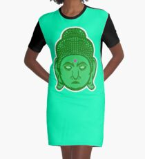 Buddha Vector Art Graphic T-Shirt Dress