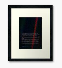 Pale Blue Dot - Voyager 1 ⛔ HQ quality Framed Print