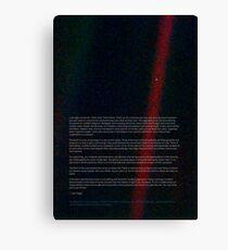 Pale Blue Dot - Voyager 1 ⛔ HQ quality Canvas Print