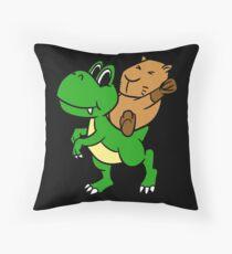 Capybara And Dinosaur Gift Floor Pillow