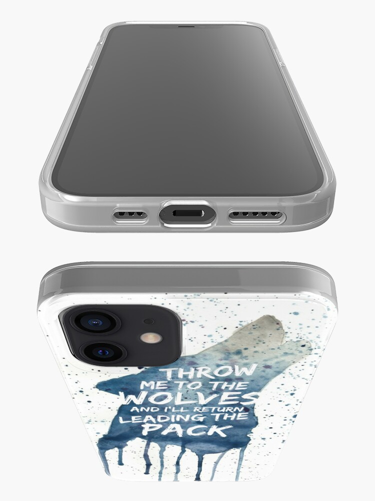 Alternate view of Throw Me To The wolves iPhone Case & Cover