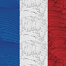 French Flag Art Deco Swing  by CecelyBloom