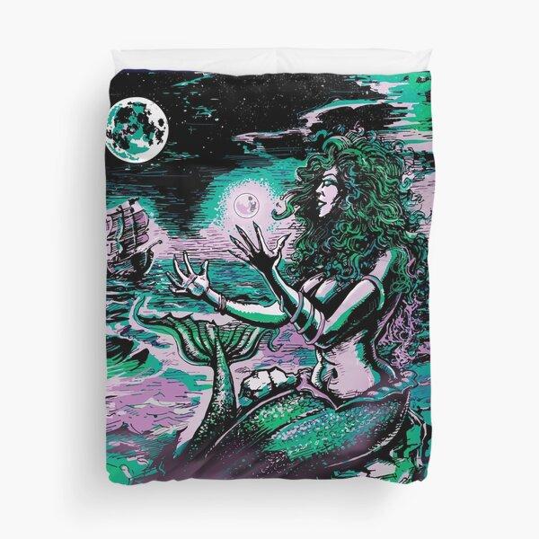 Mermaid Siren Sea Pearl Atlantis Duvet Cover