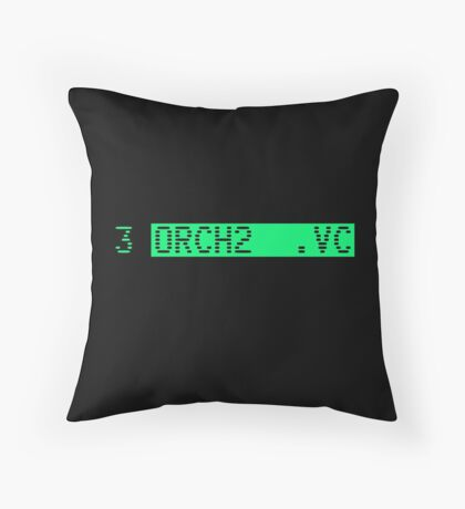 The Fairlight CMI's famous orchestra hit (stab): ORCH2 Throw Pillow