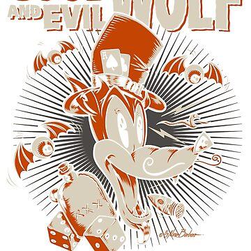 Good and evil wolf by NanoBarbero