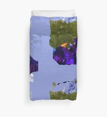 .. alone at the lake Duvet Cover