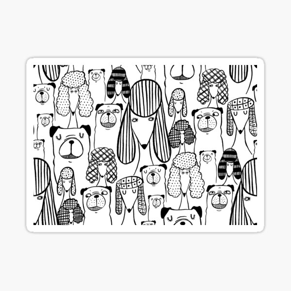 Pugs and poodles Sticker