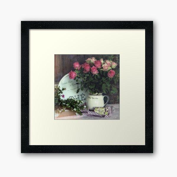 Old roses Framed Art Print