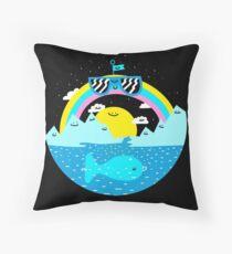Rainbow Space World Throw Pillow