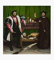 The Ambassadors - Hans Holbein the Younger Photographic Print
