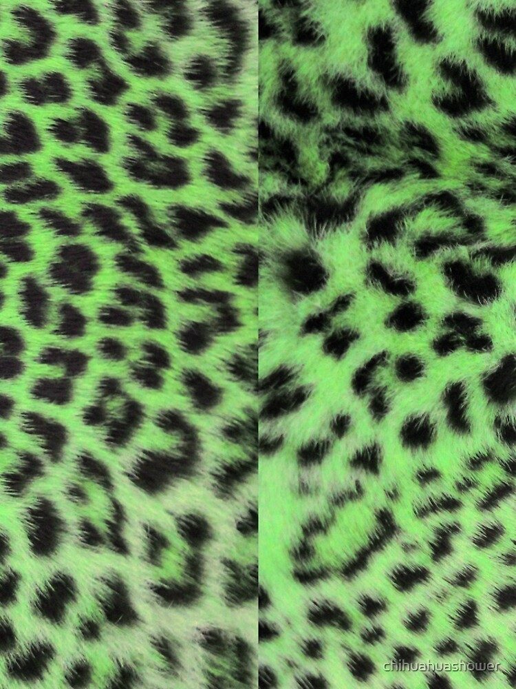 Bright leopard print in green by chihuahuashower