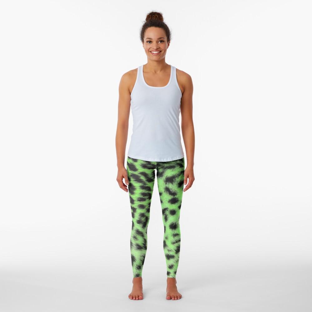 Bright leopard print in green Leggings