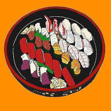 Beautiful Sushi Set by m-lapino